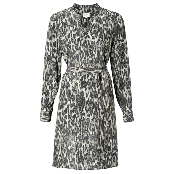 YAYA Belted midi dress
