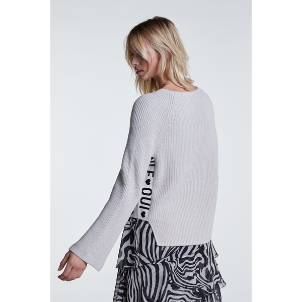 OUI offwhite Pullover lm 65894 bij Petra Lodewijk Mode